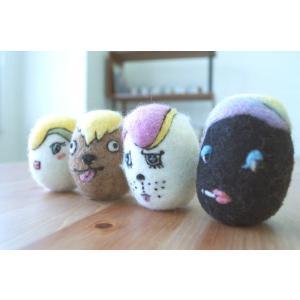 ketama / けたま (4個セット:フィリ、ルー、ミル、クロ) いぬ・ねこのおもちゃ|starry
