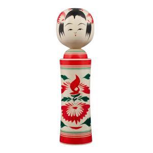鳴子系 伝統こけし こけし 八寸 約24cm こけしの岡仁 岡崎 靖男作伝統工芸士 starry