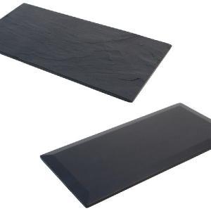 雄勝石皿 黒い玄昌石皿・長方形皿 21cm|starry