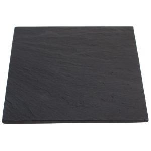 雄勝石皿 黒い玄昌石皿 ・4寸皿(角皿12cm)|starry