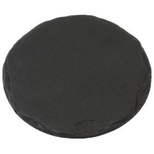 雄勝石皿 黒い玄昌石皿 ・銘々皿(丸12cm) 菓子切付き|starry