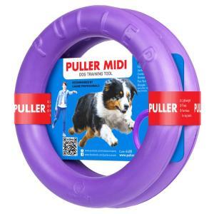 犬用 おもちゃ PULLER(プラー) MIDI (中) 2個1組 中型・大型犬用 ボール ロープ フライングディスク|starry