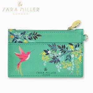 コインケース sara miller サラミラー 鳥 ハチドリ ハミングバード フラット ウォレット 財布 コインパース|starry