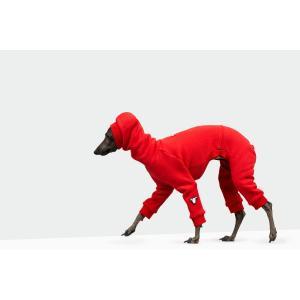 vemvem ヴェムヴェム イタリアングレーハウンド専用スーツ フェイス:スピードスーツ/レッド|starry