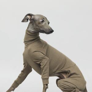 vemvem ヴェムヴェム バレエ:スリムヒート ゴールドブラウン S/M/L/XL/XX イタリアングレーハウンド・ウィペット専用オールインワン冬用 ペット ウェア|starry