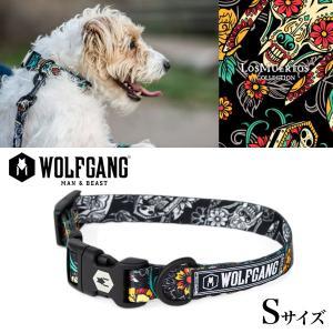 犬 首輪 ウルフギャング WOLFGANG LosMuertos COLLAR Sサイズ アメリカンメイド ネコポス便対応|starry