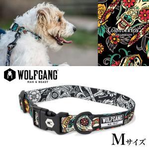 犬 首輪 ウルフギャング WOLFGANG LosMuertos COLLAR Mサイズ アメリカンメイド ネコポス便対応|starry