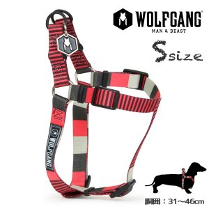犬ハーネスS size 胴囲:31〜46cm ウルフギャング WOLFGANG  VertDash HARNESS / アメリカンメイド|starry