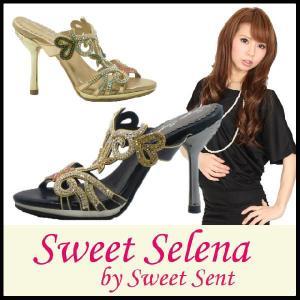 ミュール サンダル MULE Sweet Selena by SweetSent ( スウィートセレナ スウィートセント )(2317-P5) キラキラ ラインストーン|starsent