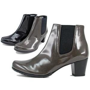 Beaufit ビューフィット レインブーツ A55WAE-DYEE エナメル サイドゴア ミドルヒール 美脚 レディース 靴 お取り寄せ商品|starsent