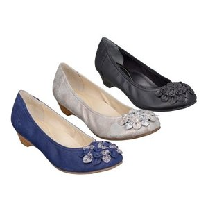 REGAL リーガル パンプス F20JAC 小花飾り ローヒール 羊革 レディース 靴 お取り寄せ商品|starsent