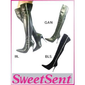 ニーハイブーツ Sweet Sent スウィートセント (570040) 30%OFFセール レザー ハイヒール ロング ブーツ (1638-570040)|starsent