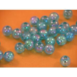 プラスチックビーズ 8mm/ブルー 約100個