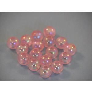 プラスチックビーズ 8mm/ピンク 約100個