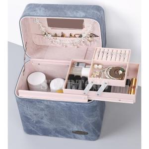 メイクボックス コスメボックス 大容量 鏡付き 化粧ボックス 多機能 化粧品収納 コスメバッグ メイクバッグ 収納ケース 美容 ネイル start666
