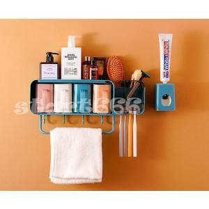 歯ブラシスタンド 歯磨きカップ収納ケース ハブラシ たて ハブラシ粉 うがい コップ スタイリッシュ 便利 スタンド 衛生的 壁面付けに収納|start666
