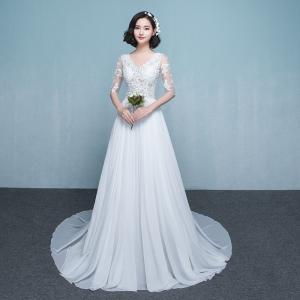 fb924d5f04106 ウエディングドレス aライン 白 袖あり 格安 ウェディングドレス 花嫁 結婚式 パーティードレス 二次会 ブライダル ロングドレス イブニングドレス