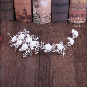 ヘッドドレス 安い 花嫁 結婚式 髪飾り ウエディング ティアラ 演奏会 パーティー 二次会 ヘアアクセサリー 発表会 カチューシャ パール