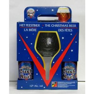 ブッシュ・ノエル グラス付ギフトボックス [輸入ビール ベルギービール] 御歳暮 クリスマス|stary