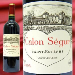 ワイン シャトー カロン セギュール 2005 赤ワイン 750ml フランス ボルドー サンテステフ フランス 赤ワイン ボルドー赤ワイン 赤重口 フルボディ|stary