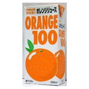 濃縮還元 マルサンアイ オレンジ100% 1L 1ケース6本入り|stary