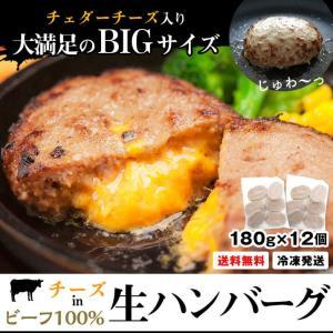 牛肉 100% チーズイン 生ハンバーグ ビーフ 180g 12個 冷凍食品 送料無料 国内製造 プレゼント ギフト 冷凍  ハンバーグ 濃厚 お取り寄せ|starzen-k