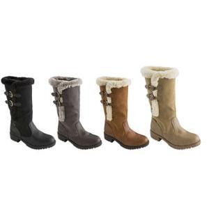 ロングブーツ a.v.v アー・ヴェ・ヴェ (8023) 2015秋冬 レディース フラット ぺたんこ ボア シューズ 靴 お取り寄せ商品