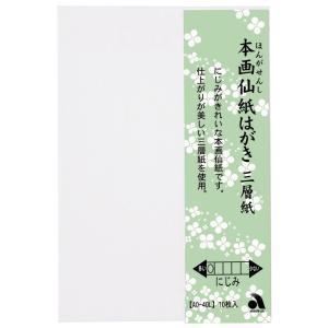 あかしや 本画仙紙はがき三層紙 10枚入り(ほんがせんしはがきさんそうし 10まいいり) AO-40L stationery-arnz