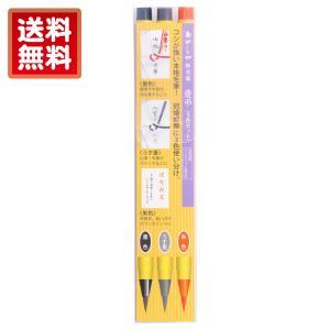 あかしや あかしや新毛筆 慶弔3色セット(あかしやしんもうひつ けいちょう3しょくせっと) SA300/3VK stationery-arnz
