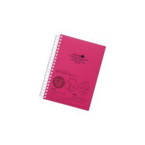 リヒトラブ アクアドロップス B6ツイストリングノート 赤 横罫70枚綴り