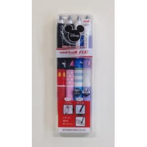 三菱鉛筆 ユニボールRE 消せるボールペン ディズニー4本(黒インク) URN-200D-05-4C|stationery-shimasp