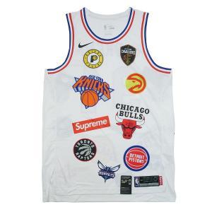 0056ebdd9620f シュプリーム SUPREME ×NIKE 18SS NBA Teams Authentic Jersey タンクトップ 白 Size S    新古品・未使用品