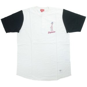 c44a54a7d0fa シュプリーム SUPREME 14SS Pink Panther Henley ヘンリーネックTシャツ 白黒 Size【L】  【中古品-ほぼ新品】【中古】