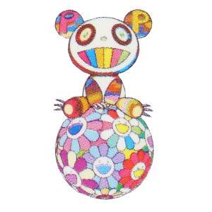 MURAKAMI TAKASHI お花の玉の上でパンダの子供、鎮座しております。ED100 500×...