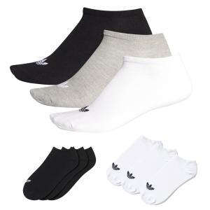 アディダス オリジナルス adidas originals ソックス トレフォイル ライナー 靴下 3P 3足セット メンズ レディース スニーカー アンクル AB3889 S20274|stay