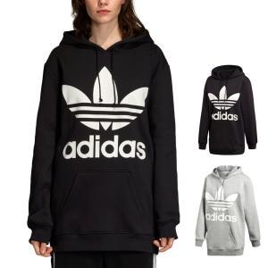 アディダス オリジナルス adidas originals スウェット パーカー レディース ロゴ トレフォイル フーディー ブランド 黒 灰色 XS S M L O XO BF TREFOIL HOODIE|stay