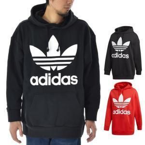 アディダス オリジナルス パーカー メンズ adidas originals ロゴ トレフォイル オーバーサイズ フーディー ブランド TREFOIL OVERSIZED HOODIE CW1246 DH5769|stay
