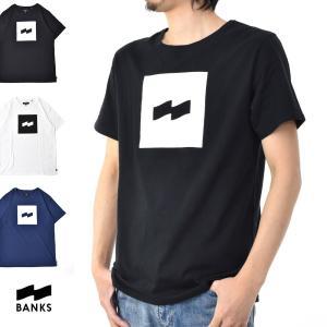 バンクス BANKS Tシャツ フラッグ ロゴプリント半袖Tシャツ ATS0142 FLAG[M便 1/1] メンズ サーフィン サーファー アメカジ|stay