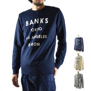 バンクス BANKS トレーナー ネットワーク スエットトレーナー ロゴプリント AFL0090 NETWORK メンズ サーフィン サーファー|stay