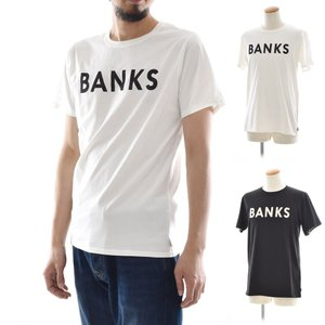 バンクス BANKS Tシャツ クラシック 半袖 Tシャツ TEE オーガニックコットン ロゴ 白 黒 オフホワイト ATS0233 ATS0261 メンズ サーフィン サーファー アメカジ|stay