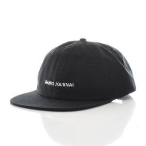 バンクス BANKS キャップ 帽子 LABEL HAT メンズ 6パネル ベースボールキャップ スナップバック ブランド ブラック 黒 HA0071 サーフィン サーファー アメカジ|stay