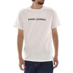 バンクス BANKS Tシャツ ロゴプリント ジャーナル BANKS JOURNAL メンズ 半袖Tシャツ 白 黒 オフホワイト LABEL TEE ATS0252 サーフィン サーファー アメカジ|stay|02