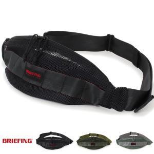 ブリーフィング BRIEFING バッグ メッシュ トライポッド ウェストバッグ BRF466219 ブリフィン 鞄アウトドア ボディーバッグ メンズ ブラック|stay