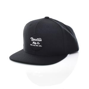 ブリクストン Brixton キャップ ベースボールキャップ メンズ レディース ウィーラー スナップバック 新作 ブランド ブラック 黒 WHEELER SNAPBACK CAP 00382|stay