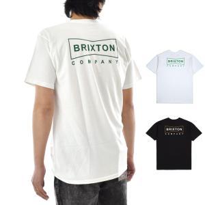 ブリクストン Brixton Tシャツ メンズ ウェッジ スタンダード 半袖Tシャツ ブランド おしゃれ ブラック ホワイト 黒 白 WEDGE S/S STANDARD TEE 06865|stay
