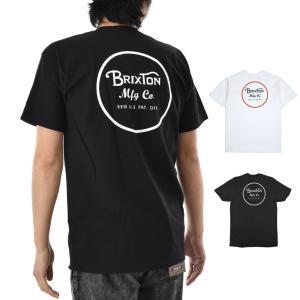 ブリクストン Brixton Tシャツ メンズ ウィーラー 2 スタンダード 半袖Tシャツ ブランド おしゃれ ブラック ホワイト 黒 白 WHEELER 2 S/S STANDARD TEE 06452|stay