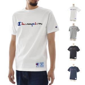 チャンピオン Champion Tシャツ ベーシックロゴ カラフル刺繍 半袖Tシャツ TEE ホワイト ブラック グレー ネイビー メンズ アクションスタイル C3-H371|stay