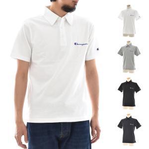 チャンピオン Champion Tシャツ ベーシック ポロシャツ 半袖 TEE メンズ ビジネス ビジカジ クールビズ カジュアル ストリート ホワイト ブラック 白 黒 C3-P306|stay
