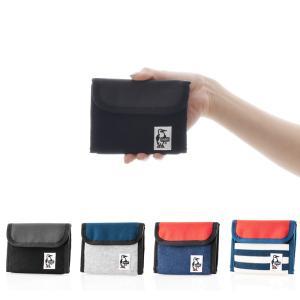 チャムス CHUMS 財布 トリフォルド ウォレット スウェット ナイロン カード入れ 小さい メンズ レディース ブラック 黒 Trifold Wallet Sweat Nylon CH60-2688|stay