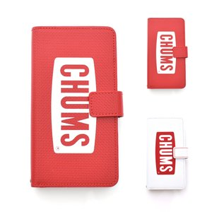 チャムス CHUMS スマホケース 携帯ケース スマホカバー ダイアリーケースフォーアイフォン12 12プロケース 手帳型 アウトドア キャンプ 白 赤 CH62-1686|stay